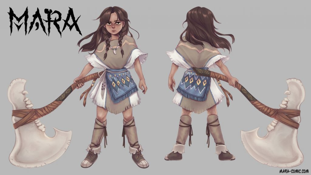 , Mara: A webcomic about the littlest barbarian, The Indie Comix Dispatch