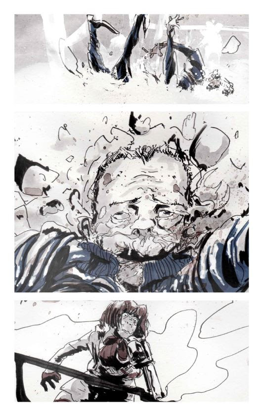 """, Freak Snow: """"An explosive, chaotic, and violent ride…"""", The Indie Comix Dispatch"""