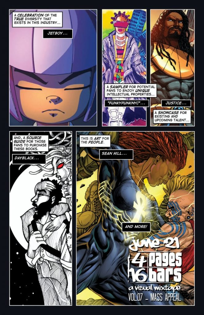 Indie Comic News, Griot Enterprises Launches 4 Pages 16 Bars: A Visual Mixtape Vol. 07 – Mass Appeal on Kickstarter, The Indie Comix Dispatch