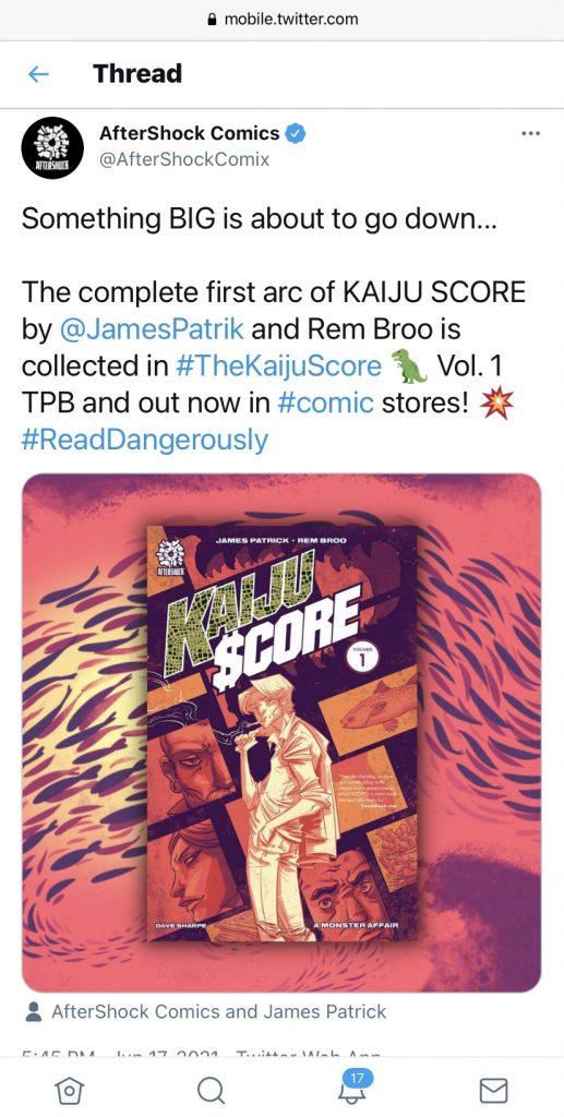 indie comic news, Kaiju Score…. A SECOND HEIST?!, The Indie Comix Dispatch