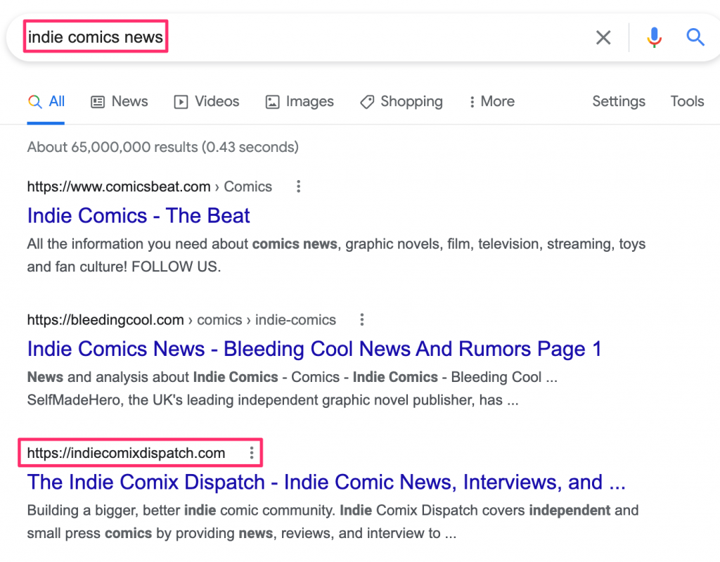 comic news, SEO: How can ICD beat Bleeding Cool and Comics Beat?, The Indie Comix Dispatch