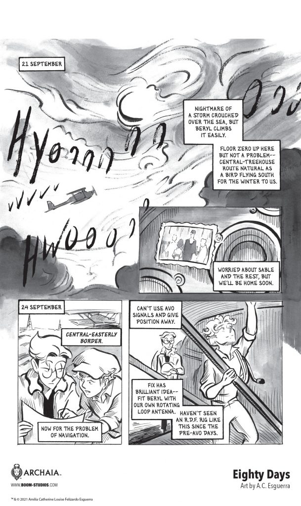 indie comic news, Fly Away in a New Look at A.C. Esguerra's EIGHTY DAYS Graphic Novel, The Indie Comix Dispatch