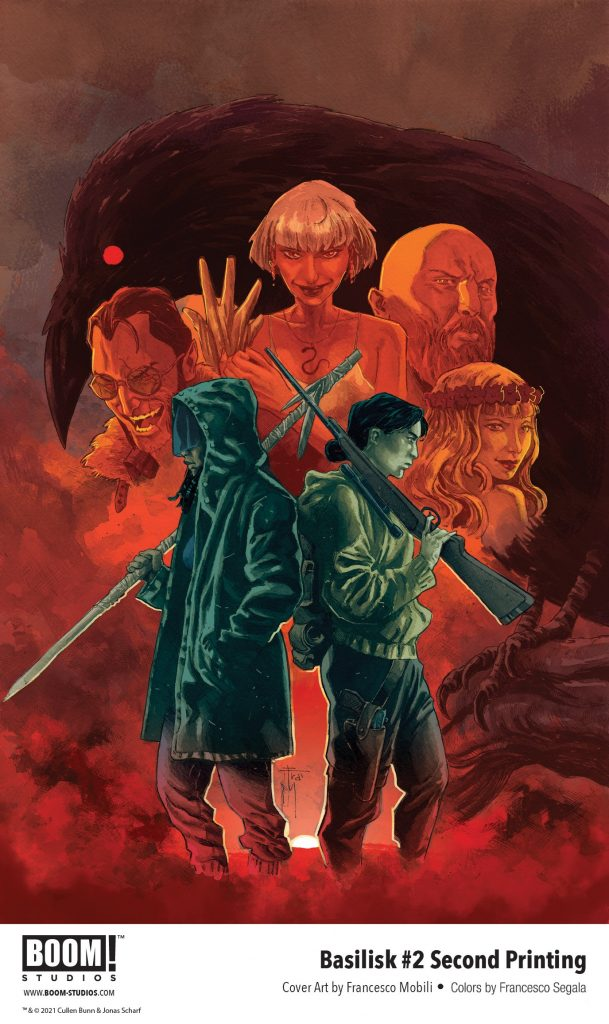 indie comic news, Cullen Bunn and Jonas Scharf's BASILISK #2 Sells Out and Returns with New Printing, The Indie Comix Dispatch