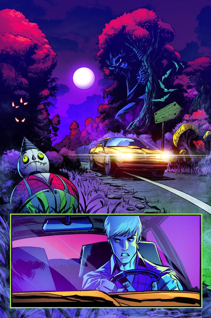 indie comic news, Horror Comic MIDNIGHT HIGHWAY #2 launches with Tiers Paying Homage to 80s Horror, The Indie Comix Dispatch