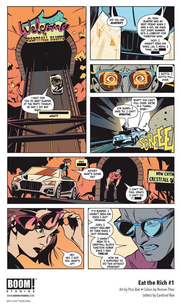 indie comic news, FIRST LOOK: Sarah Gailey and Pius Bak's EAT THE RICH #1, The Indie Comix Dispatch
