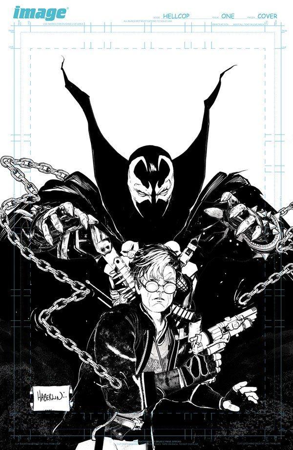 indie comic news, FIRST LOOK: BRIAN HABERLIN & GEIRROD VAN DYKE'S HELLCOP IS BACK THIS OCTOBER, The Indie Comix Dispatch