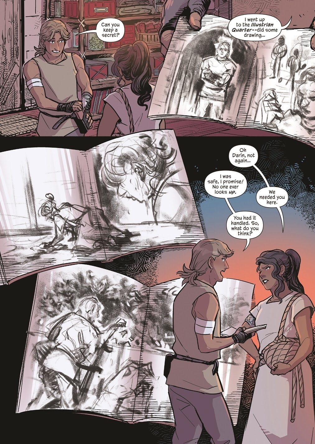 , FIRST LOOK: AN EMBER IN THE ASHES Graphic Novel, The Indie Comix Dispatch