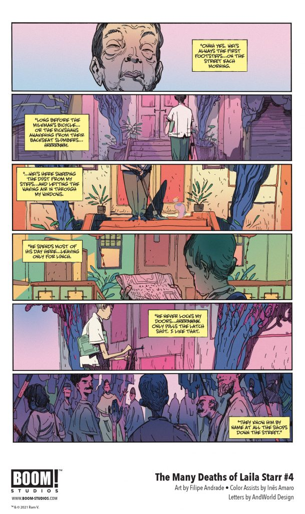 indie comic news, Your First Look at THE MANY DEATHS OF LAILA STARR #4 from BOOM! Studios, The Indie Comix Dispatch