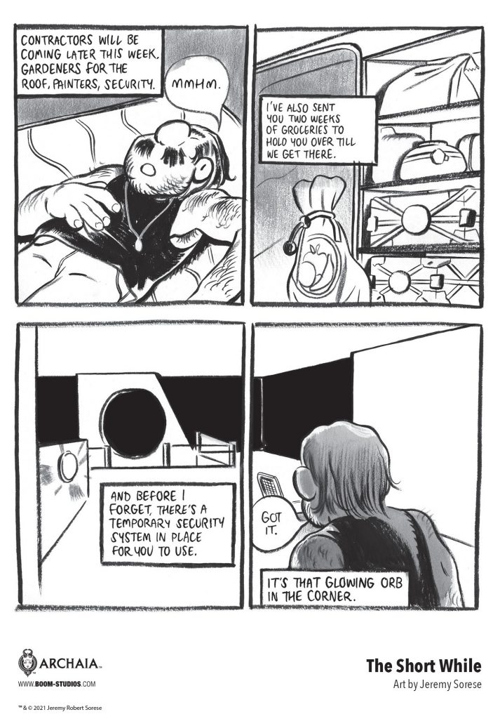 indie comic news, Love & Loneliness in Jeremy Sorese's THE SHORT WHILE, The Indie Comix Dispatch